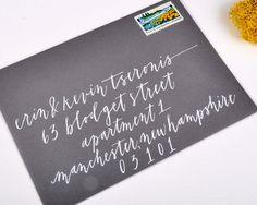 SCRIPT moderno  busta calligrafia di perchpapercompany su Etsy, $50.00