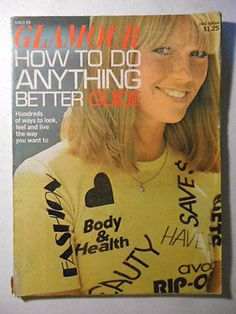 glamour magazine in Books 1974 Fashion, Patti Hansen, Seventeen Magazine, Glamour Magazine, Reference Book, Vintage Scrapbook, Keith Richards, Fashion Plates, Do Anything