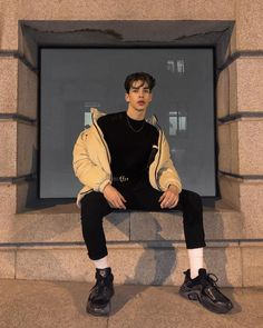 New Autumn-Winter collection - Luxury Streetwear & Lifestyle MGAclub. Korean Fashion Men, Boy Fashion, Mens Fashion, Fashion Outfits, Streetwear Mode, Streetwear Fashion, Aesthetic Fashion, Aesthetic Clothes, Urban Aesthetic
