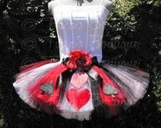 The Original Queen of Hearts Tutu - Adult Teen Costume Tutu - Custom Sewn Tutu…
