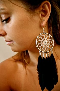 Hey, I found this really awesome Etsy listing at https://www.etsy.com/listing/107213124/dreamcatcher-crocheted-earrings-with
