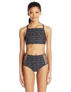 Amazon.com: RVCA Women's Palm Cheeky Coverage Bikini Bottom: Clothing