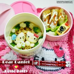 Karenwee's Bento Diary: Bento2015#Apr22~Dear Daniel & Hello Kitty
