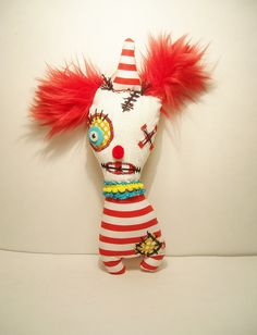 Handmade Art Doll Monster Clown Bloop by JunkerJane on Etsy
