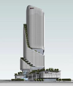 Guangdong Hengqin Taiwan GETC building, It is 150 meters super high-rise building Architecture Building Design, Hotel Architecture, Unique Architecture, Building Facade, Facade Design, Concept Architecture, Futuristic Architecture, Mix Use Building, Building Concept