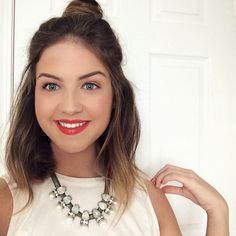 Half Up Top Knot (perfect for long bob hairstyles)