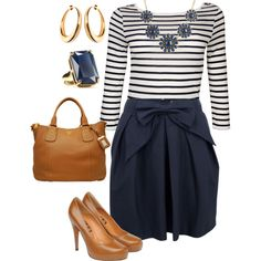 Stripes & a bow, created by yjmunson on Polyvore