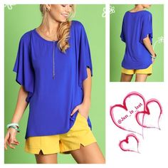 Loved by Ruffles Open Shoulder Top Loved by Ruffles Open Shoulder Top*I know you already have outfits lined up that you can basically walk the runway with, but you should also make sure you have casual outfits are dressed to kill  Color: Blue Fabric: COTTON BLEND  No trades  ✅ Reasonable offers welcomed. ✅ Happy Poshing  Tops Tunics