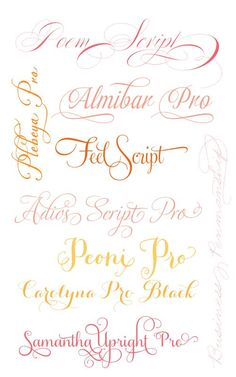 My Favourite Fancy Fonts
