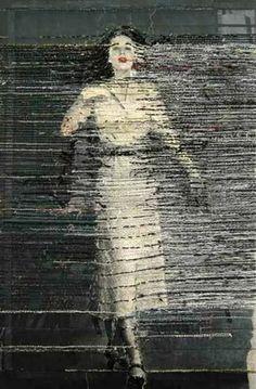 Hinke Schreuders, embroidered photo