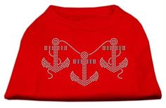 Rhinestone Anchors Shirts Red S (10)