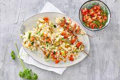 Kip-paprikaspiesjes met tomatensalsa - Recept - Allerhande