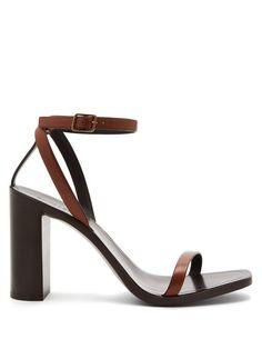 SAINT LAURENT | Loulou wood and leather sandals #Shoes #Sandals #SAINT LAURENT