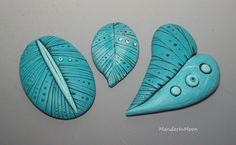 Polymer Clay Cabochons by MandarinMoon