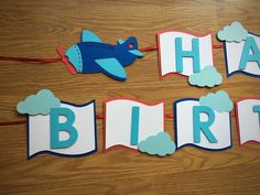 Airplane Birthday Banner – Time Flies Party Theme – Transportation Decorations Airplane Birthday Banner Fly Away Lil' Pilot Party Boys First Birthday Cake, Planes Birthday, Diy Birthday Banner, Planes Party, Diy Banner, 1st Birthday Parties, Airplane Banner, Airplane Party, Airplane Decor