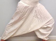 Ivory Unisex Yoga Harem Pants in 100 Organic by theBilvatree, $17.99 Yoga Harem Pants, Ivory, Organic, Unisex, Trending Outfits, Shopping, Beautiful, Vintage, Etsy