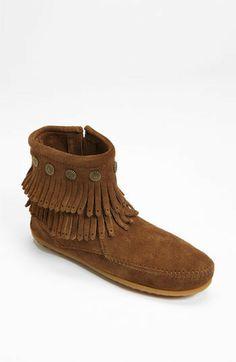 Minnetonka 'Double Fringe' Boot on shopstyle.com