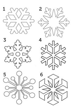 Сніжинки: шаблони для друку   Ідеї декору