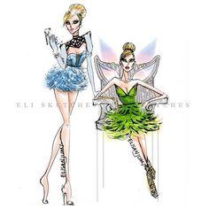 Disney High-Fashion (Version 2.0) 😜😜 #FashionIllustration #EliSketches 👉Facebook.com/EliSketches
