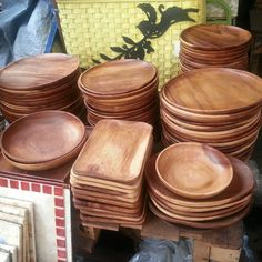 Wooden Charger Plate Or Dessert Plates And Bowls on Carousell
