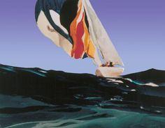 Spinnaker Losing Breeze Silkscreen Print by Donald Hamilton Fraser