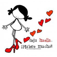 "Lámina ""Deja huella"" ♡ Teresa Restegui http://www.pinterest.com/teretegui/ ♡"