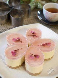 sakura jelly cheesecake