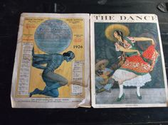 1926-THE DANCE MAGAZINE-COVER ONLY-PAVELY-OUKRAINSKY BALLET SCHOOL AD-ART