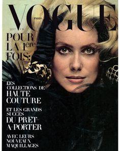 Catherine Deneuve photographiée par Jeanloup Sieff pour le numéro de septembre 1970 de Vogue Paris