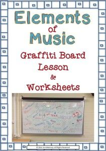 GRAFFITI board class activity to introduce students to the elements of music!        Steps outlined and accompanying sheets to download (free)                                    #musiceducation     #musedchat