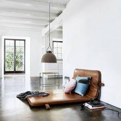 Introducing THE M #bythornam #them #danishdesign #daybed #lounge #cozy #handmade #leather #gym #mat