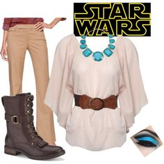 """Princess Leia Inspired"" by barbostick on Polyvore"