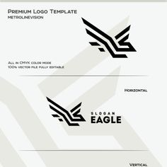 Logo Template Scalable Vector FilesEverything is editableEverything is resizableEasy to edit color / textFree fontsCMYK 300 PPIReady to printFiles Logo Branding, Branding Design, Logo Design, Design Art, Graphic Design, Eagle Design, Mountain Logos, Eagle Logo, Premium Logo