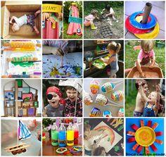 Férias com as crianças pedem muitas brincadeiras, atividades ao ar livre, experiências malucas e muita bagunça!! Vamos deixar a tv de lado, porque brincar é muita mais divertido!!