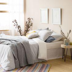 Two-tone Dyed Thread Seersucker Bed Linen - Bed Linen - Bedroom | Zara Home…