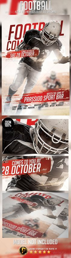 American Football Flyer Template American football, Flyer - football flyer template