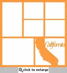 California State 12 x 12 Overlay Laser Die Cut