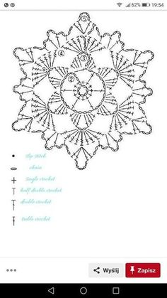 No 7 large snowflake lace crochet motifs 눈송이 모티브도안 네이버 블로그 salvabrani Crochet Snowflake Pattern, Crochet Stars, Crochet Motifs, Crochet Snowflakes, Crochet Flower Patterns, Crochet Diagram, Crochet Stitches Patterns, Thread Crochet, Diy Crochet