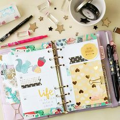 carladetaboada ~ Planning Ahead When I plan my activities for the week I enjoy using washi and some embellishments to decor my pages