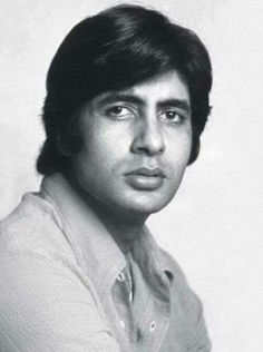 Amitabh Bachchan Looking very young, an actor, in the days of his early films like Zameer.