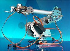 Abb industrial robot model 7 DOF robot arm frame All-aluminum robotic arm rack 7 servos Rotating base #Affiliate