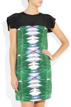 Tibi  Printed silk crepe de chine dress
