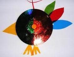 preschool craft, bird from a DVD