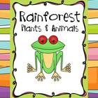 Rainforest plants and animals unit for 1st and 2nd grade $7.00