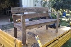 Rustic bench seat