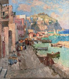 Fishing village, Capri sold by Christie's, London, on Tuesday, December 01, 2009