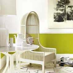 modern take on the french canopy chair