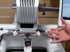 Brother PR650 Embroidery Machine Demonstration - YouTube