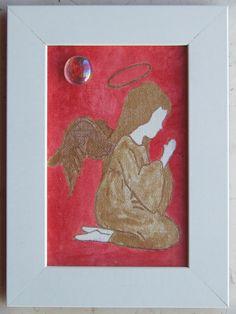 005 Acrilico su cartoncino intelato, decorato con sassolino di vetro; cm 15 x 10 senza cornice; cm 18,5 x 13,5 con cornice https://www.ebay.it/usr/camerapicta