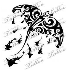 Marketplace Tattoo SBink Manta Ray #10684 | CreateMyTattoo.com